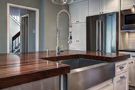 Sink In Kitchen Island Wood Countertops With Sinks And Wet Areas J Aaron