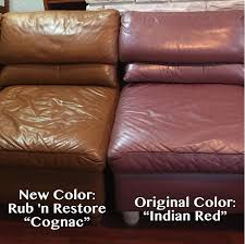 Leather Sofa Color Restoration by Cognac Color Leather Furniture Dye Reviews And Pictures