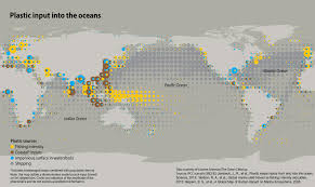 Oceans Map Plastic Input Into The Oceans Grid Arendal