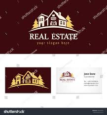 Real Estate Cards Template by Creative Luxury Icon Real Estate Agency Stock Vector 543537838
