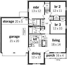 european style house plan 3 beds 2 00 baths 1160 sq ft plan 45 225