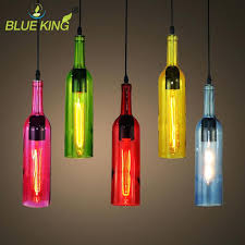 Wine Glass Pendant Light Wine Bottle Pendant Lights Colorful Led Wine Glass Bottle