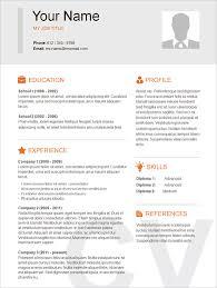 Free Resume Templates Samples Basic Resume Examples Keep It Simple Resume Templatessimple
