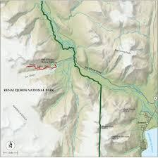 Kenai Alaska Map by Best Kenai Fjords National Park Hike Trail Map National Geographic