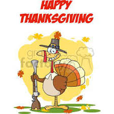 royalty free happy thanksgiving greeting with turkey with pilgrim