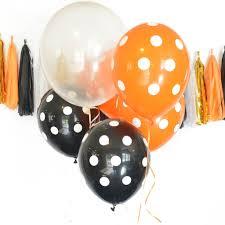 halloween balloons orange black balloons black orange