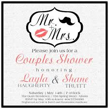 couples shower invitations mr and mrs couples shower invitations paperstyle