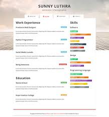 Colorful Resume Templates Free 28 Free Cv Resume Templates Html Psd U0026 Indesign Web