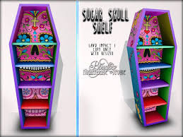 coffin bookshelf coffin bookshelf boudoir sugar skull shelf black coffin bookshelf
