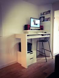 Standing Work Desk Ikea Materials 1 Lack Shelf 1x Linnmon Tabletop 2 Drawer Rails