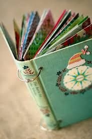 use an old book cover and add christmas cards you u0027ve received