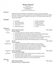 Sample Resume For Product Manager by Amazing Sample Resume For Manager Resume Format Web
