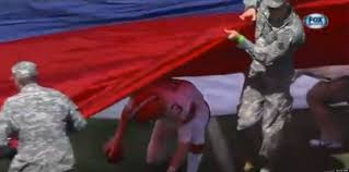 Indonesian Flag Animation Brandon Weeden Trapped Under American Flag Before Browns Eagles