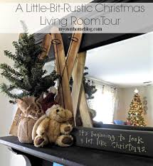 Christmas Living Room by A Little Bit Rustic Christmas Living Room Tour My Own Home