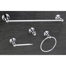 sure loc modern polished chrome 4 piece bathroom accessory set