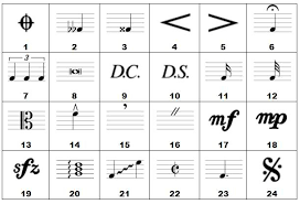 list of musical symbols clip library