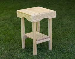 Pine End Tables Treated Pine Square End Table