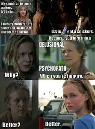 Eat A Snickers Meme - image lizzie eat a snickers png walking dead wiki fandom