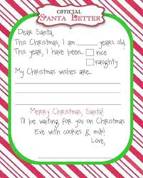free christmas letter templates printable 2017 business template