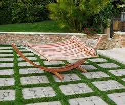Budget Patio Ideas Patio Ideas by Inexpensive Patio Ideas With Striped Hammock On Curvy Bown Wooden