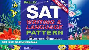 audiobook kallis sat writing and language pattern workbook study