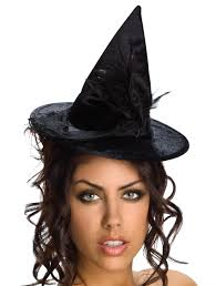 halloween costume coupon black velour mini witch hat mr costumes