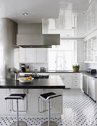 white kitchen cabinets black tile floor black and white floors that make a statement architectural