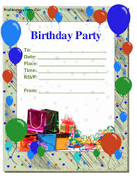 free birthday invitation card birthday invites mesmerizing birthday party invitation template