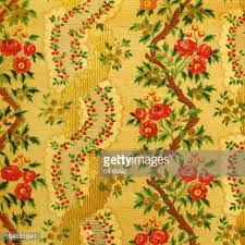 Wallpaper With Flowers Red Silk Wallpaper With Ornaments Stock Photo Getty Images