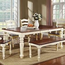 white dining table with bench palisade country style cherry white finish dining table bench set
