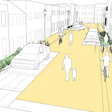 home zone design guidelines residential shared street national association of city