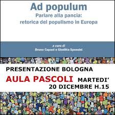 casa editrice bologna presentazione ad populum bologna aula pascoli 20 dicembre