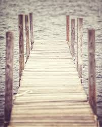 boat dock picture lake decor water wood beige grey silver brown
