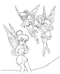 tinkerbell friends coloring netart