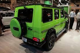 mercedes g wagon green mercedes g class gets crazy new colors autoguide com news