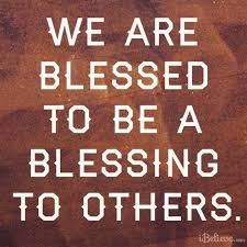 we are blessed to be a blessing inspirations
