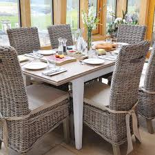 Savannah Reclaimed Wood Extending Dining Table  Rattan Chairs - Wooden dining table with wicker chairs