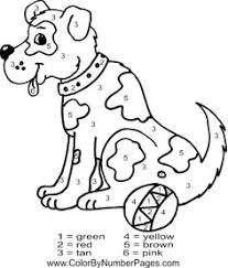 coloring amusing dog color number coloring dog