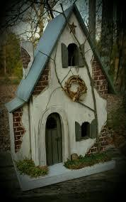 birdhouse home decor fairy house fairy garden house fairy cottage lighted