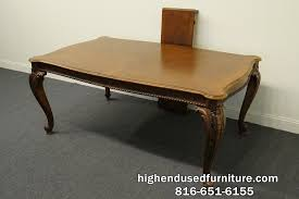 pulaski furniture 86 u2033 chippendale style banded mahogany dining