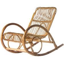 White Wicker Chairs For Sale Franco Albini Style Wicker Rocking Chair Rocking Chairs Modern