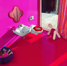 small pink bathroom design for kids