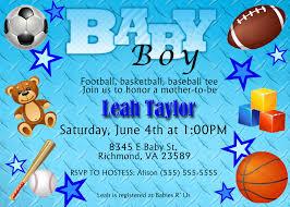baby shower boy sports invitations sports theme baby shower