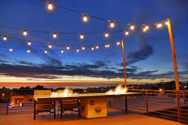 deck lighting with fire table deck modern and contemporary garden