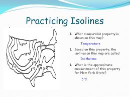isoline map definition mapping ppt