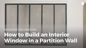 how to build an interior window in a partition wall household