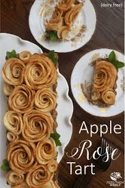 apple rose tart with coconut pastry cream dairy free feed them