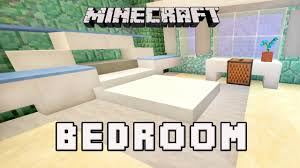 minecraft tutorial how to make a modern bedroom design coral