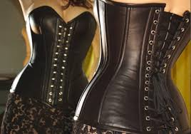 luxury leather corsets bustiers black lace mini skirts