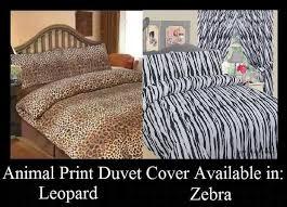 Zebra Print Single Duvet Set Animal Leopard Zebra Print Duvet Cover Set Ebay